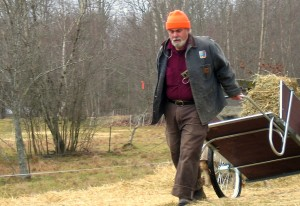 Jim loves the Vermonth cart -- it's so much quieter than the tractor!