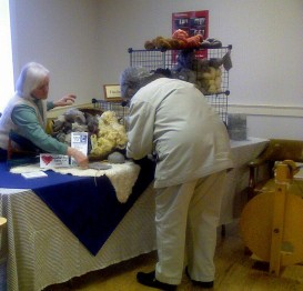 here I am at the CSA fair