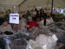 There were loads of beautiful fleeces for sale.